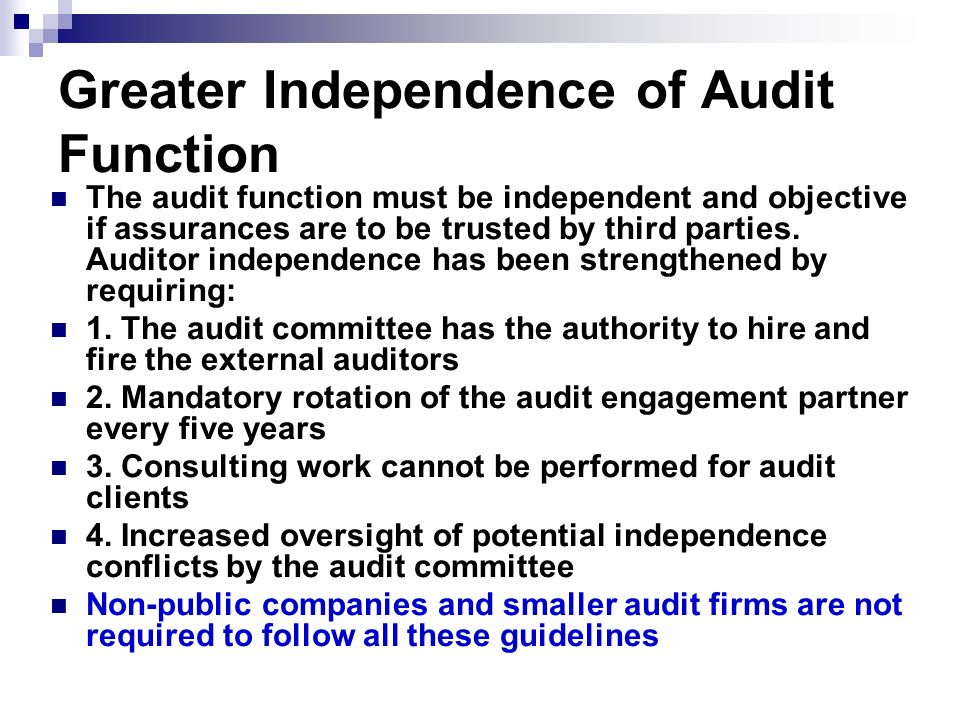 mandatory audit firm rotation a Mandatory audit firm rotation – the debate continues 18 may 2017 the principle of mandatory audit firm rotation (mafr) was discussed in a previous article, when the parliamentary standing committee on finance had just finished their first round of hearings on the subject and we were anxiously awaiting the second round of public.