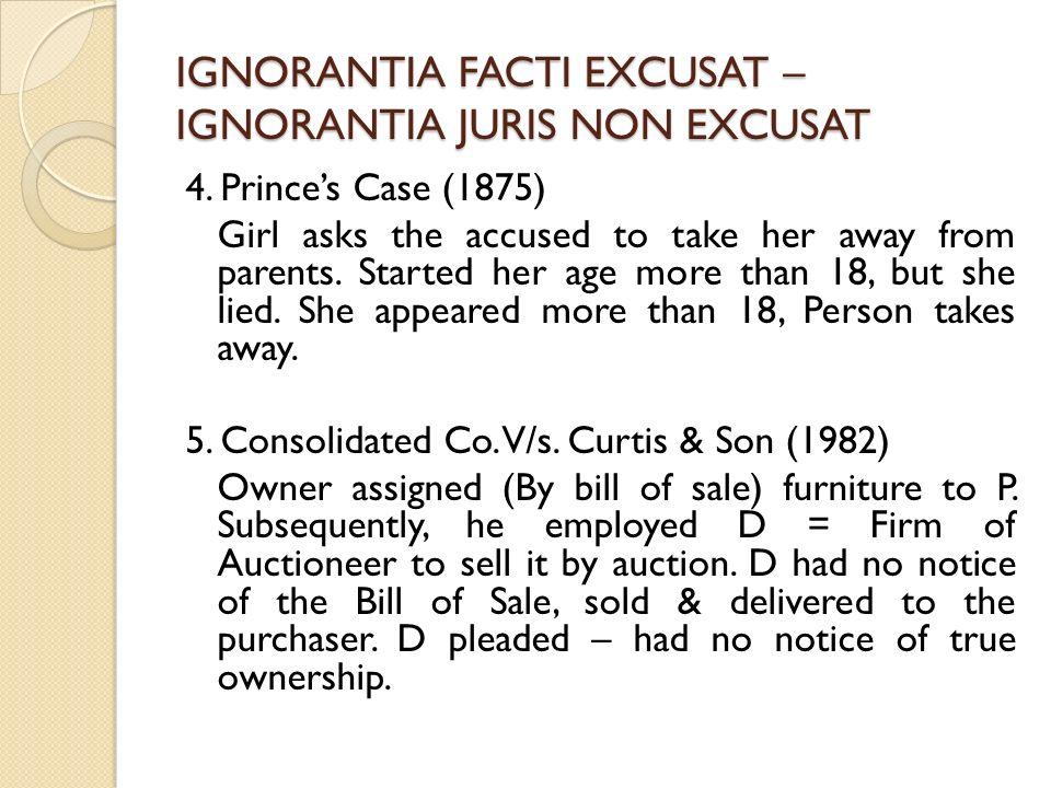 ignorantia legis non excusat