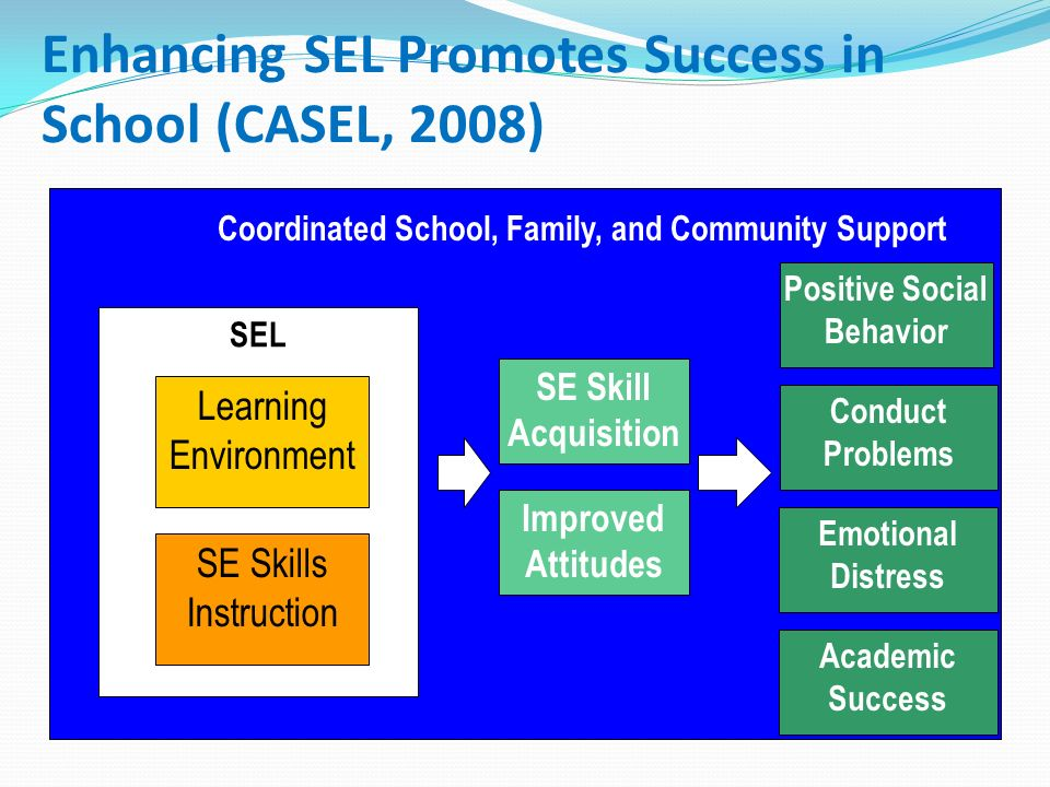 social emotional learning essay Analysis of research on programs focused on social and emotional learning (sel) shows that a systematic process for promoting students' social and emotional development is the common element among schools that report an increase in academic success, improved quality of.