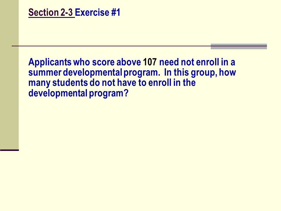 Section 2-3 Exercise #1