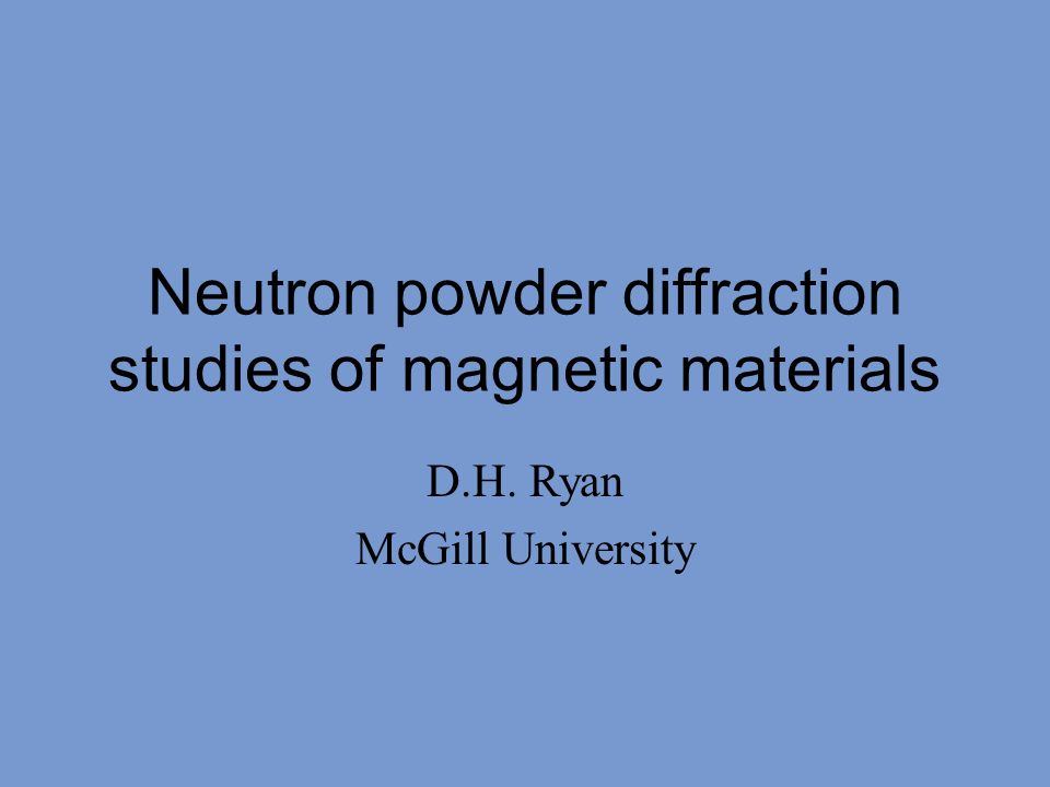 Neutron powder diffraction studies of magnetic materials