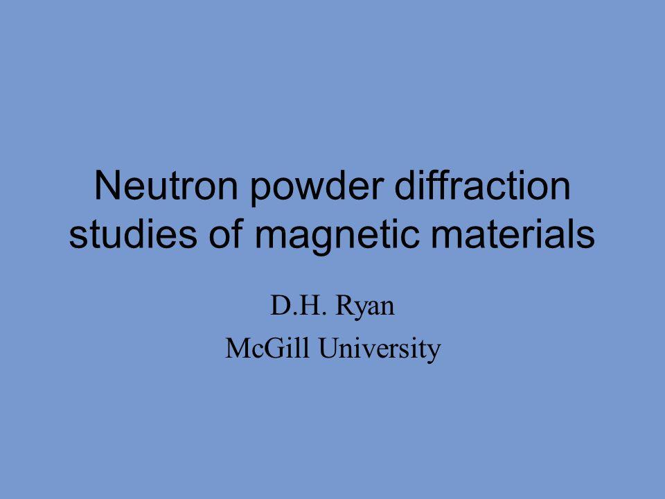 Neutron powder diffraction studies of magnetic materials