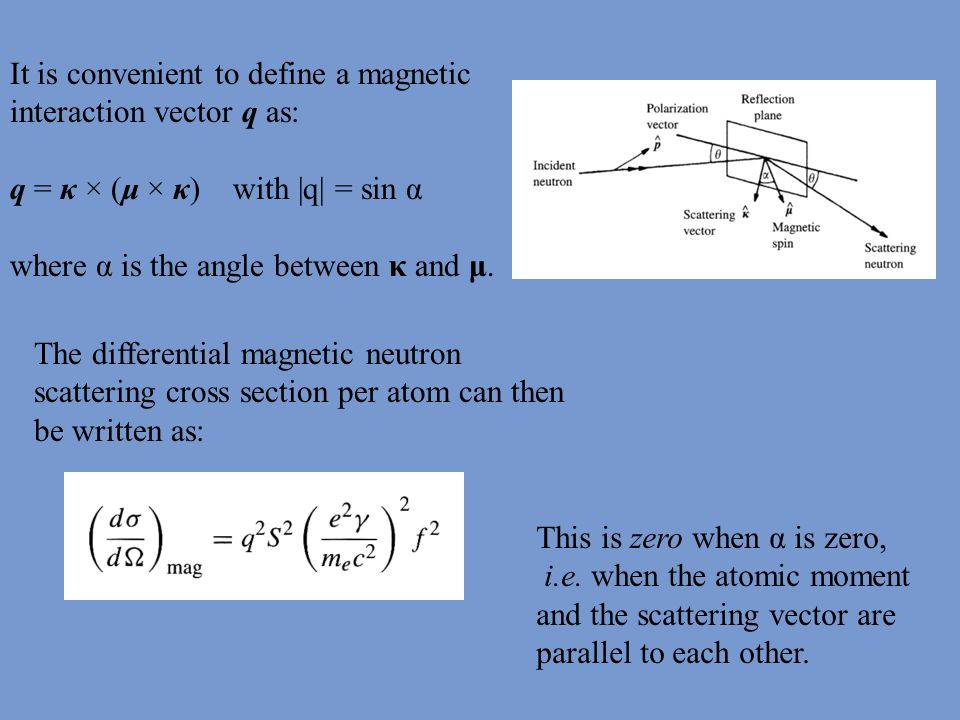 It is convenient to define a magnetic interaction vector q as: