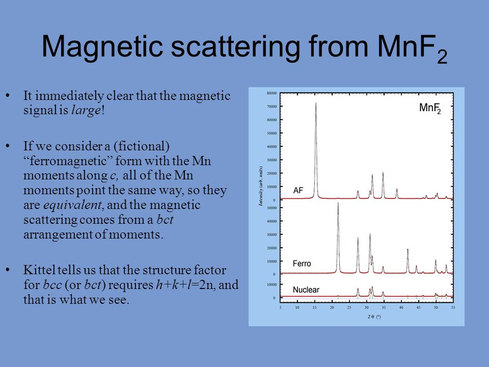 Magnetic scattering from MnF2