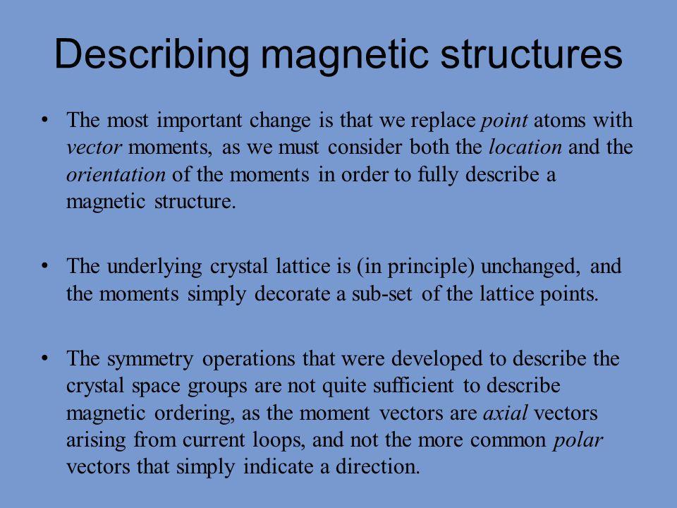 Describing magnetic structures