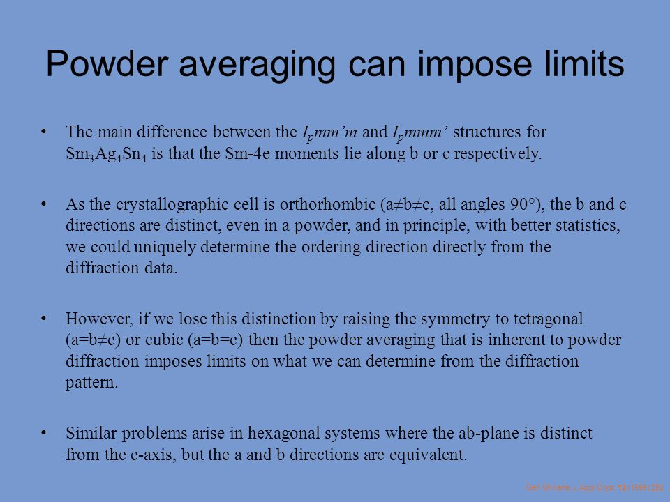 Powder averaging can impose limits