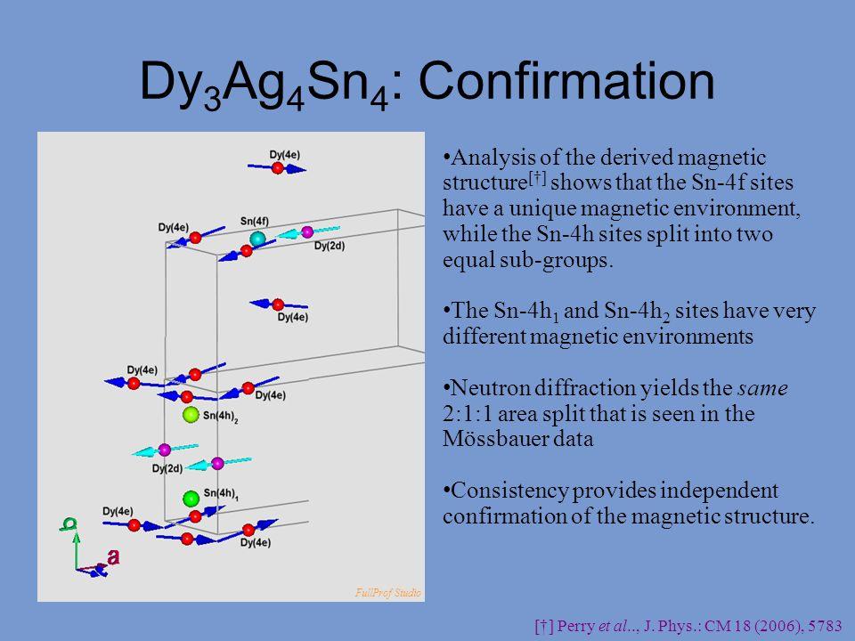 Dy3Ag4Sn4: Confirmation