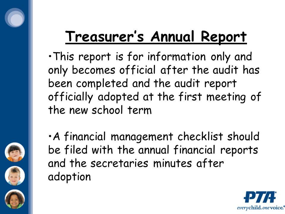 Ohio PTA Treasurer Workshop. - ppt video online download