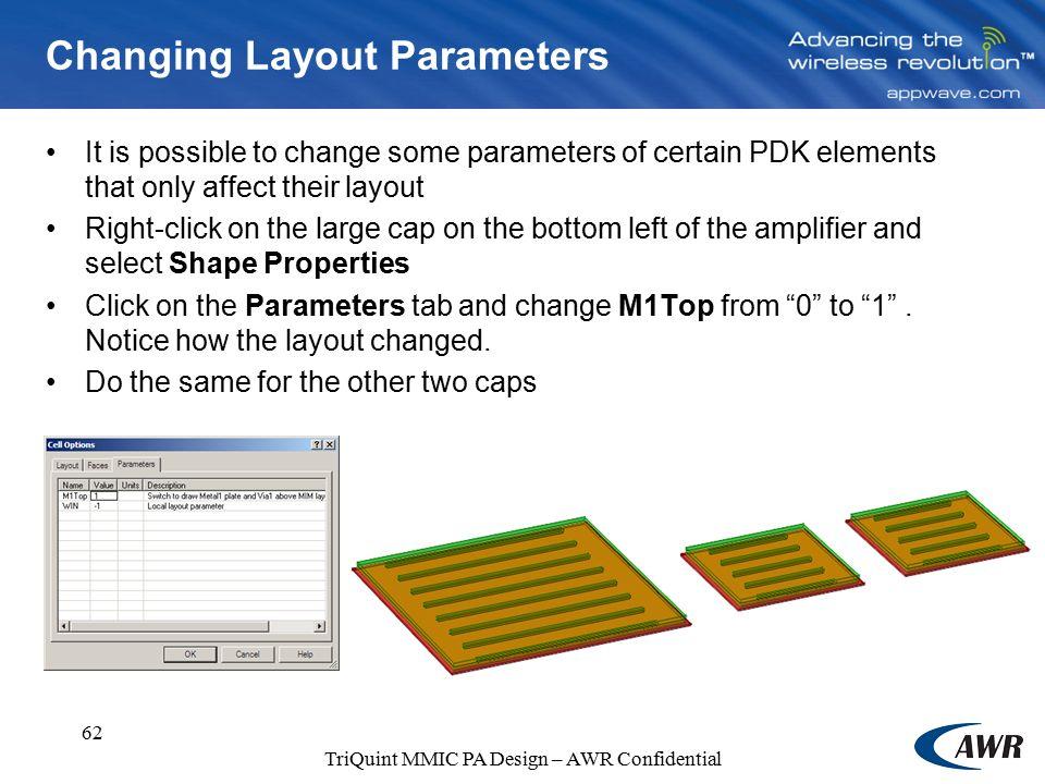 Power Amplifier Design TriQuint MMIC Design Training
