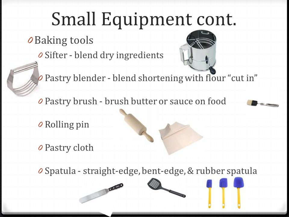 Kitchen utensils ppt video online download for Kitchen equipment definition
