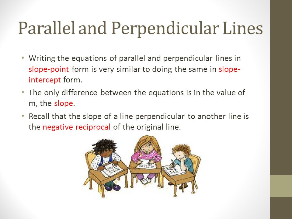 how to write a line parallel to another line