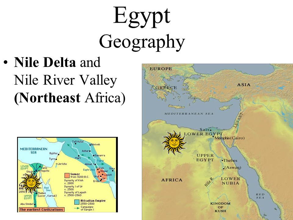 Egypt Geography Nile Delta and Nile River Valley (Northeast Africa)