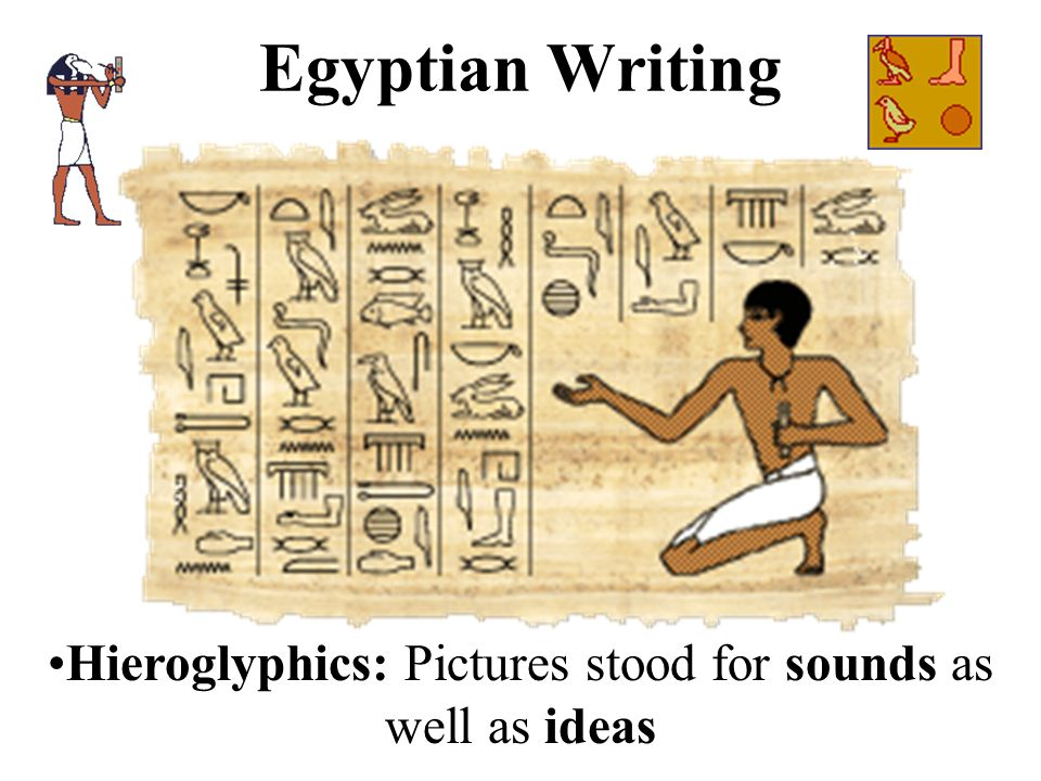 Hieroglyphics: Pictures stood for sounds as well as ideas