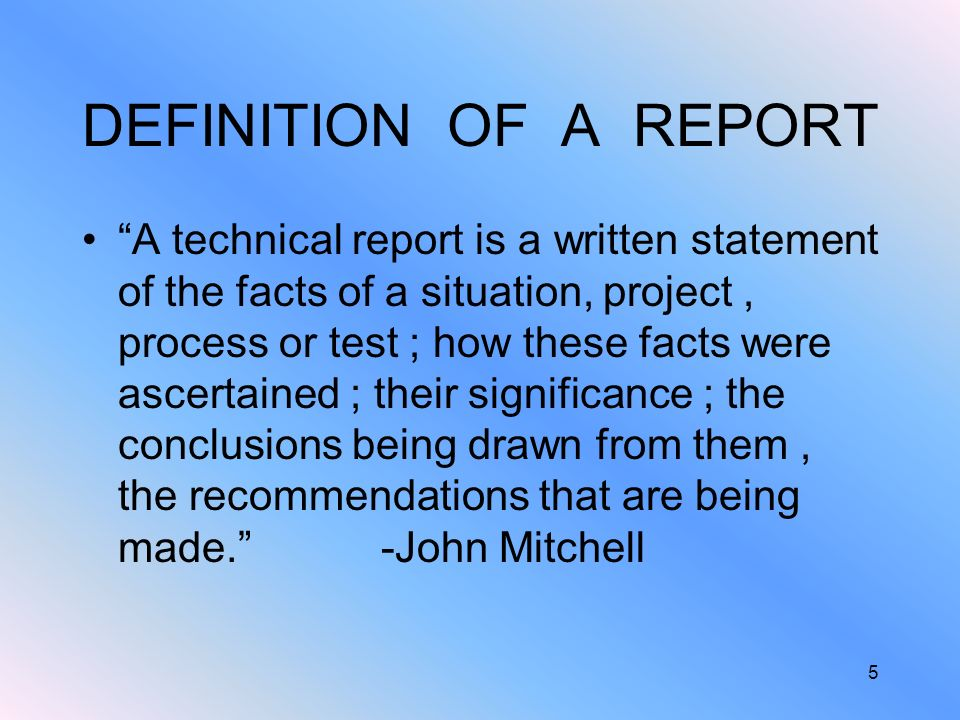 definition of technical report writing Definition of technical writing and styles, includes examples of laboratory report,  informal report, formal report, technical newsletter, journal.