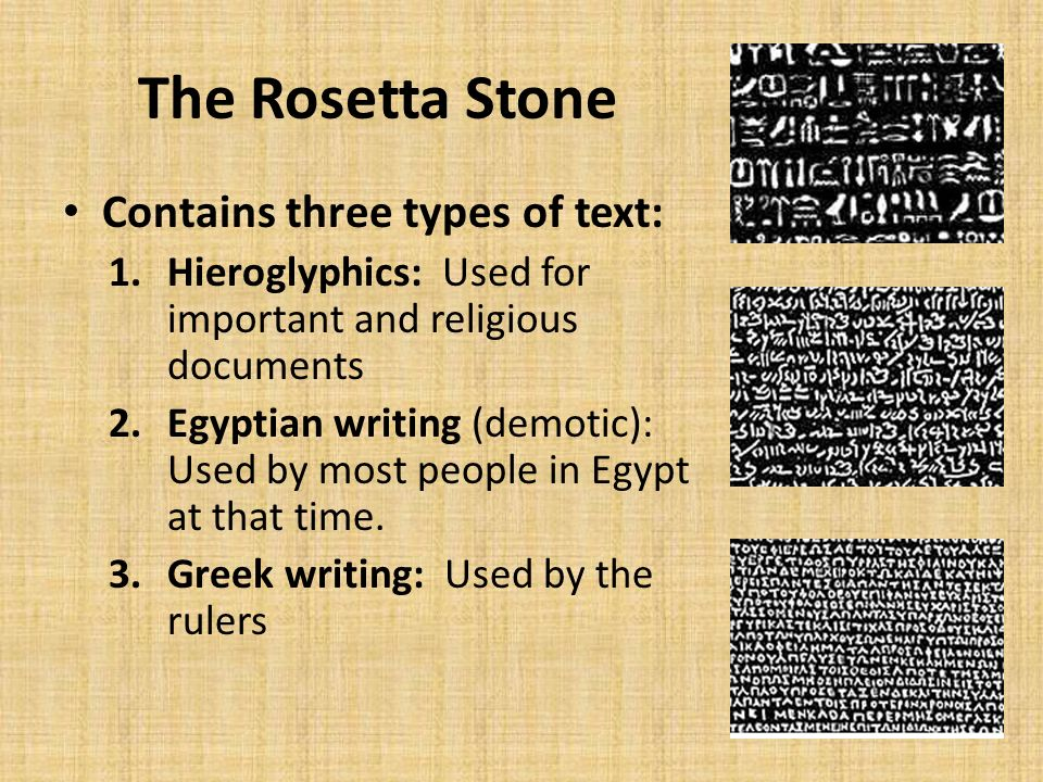 Egyptian Hieroglyphics Amp The Rosetta Stone Ppt Video