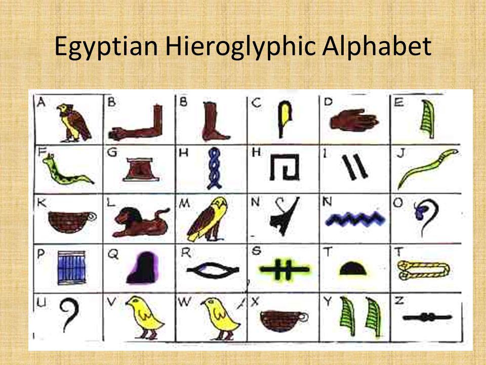 Egyptian hieroglyphics the rosetta stone ppt video online download 13 egyptian hieroglyphic alphabet thecheapjerseys Images