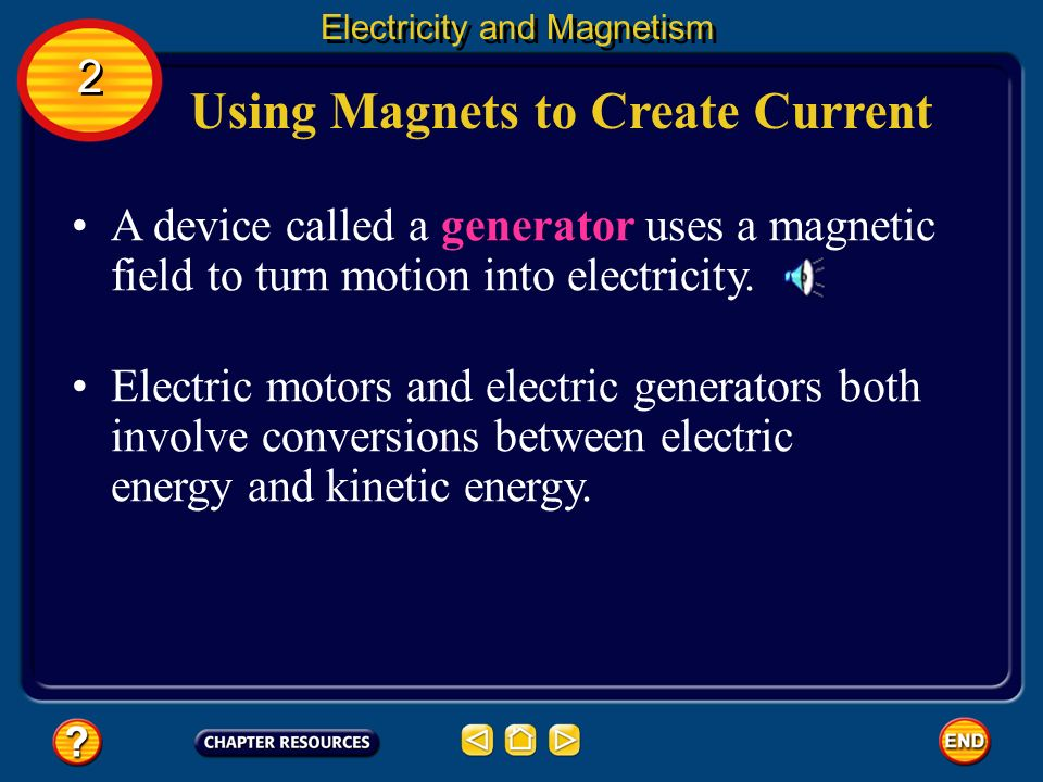 Chapter magnetism section 1 what is magnetism ppt for Turn an electric motor into a generator