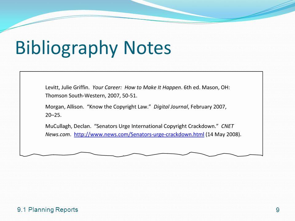 writing bibliography internet