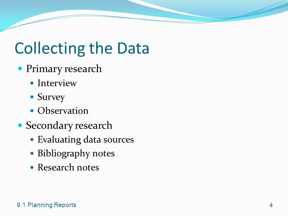 outline the sources of secondary data Secondary sources of data  'with the exception of official statistics, most forms of secondary data are too subjective to be useful in sociological research.