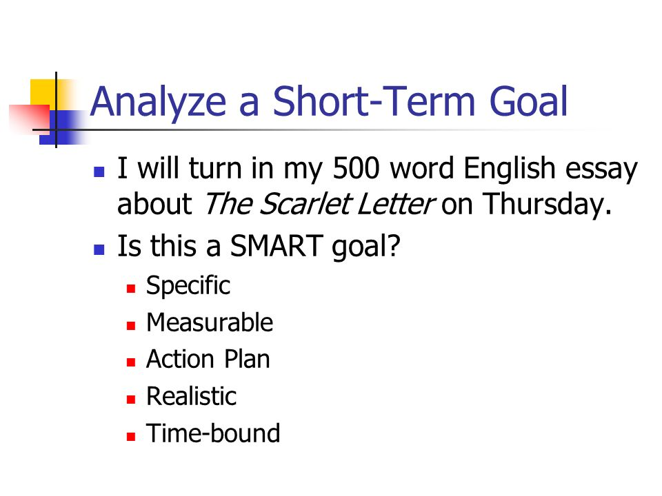 setting effective goals ppt video online  analyze a short term goal