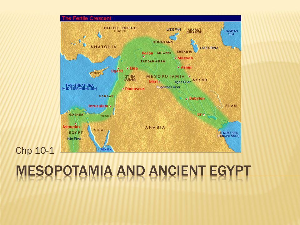 ancient egypt and mesopotamia