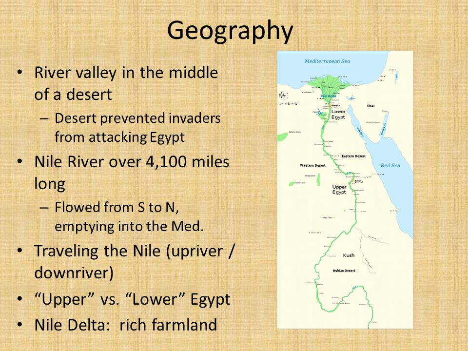 Geography River valley in the middle of a desert