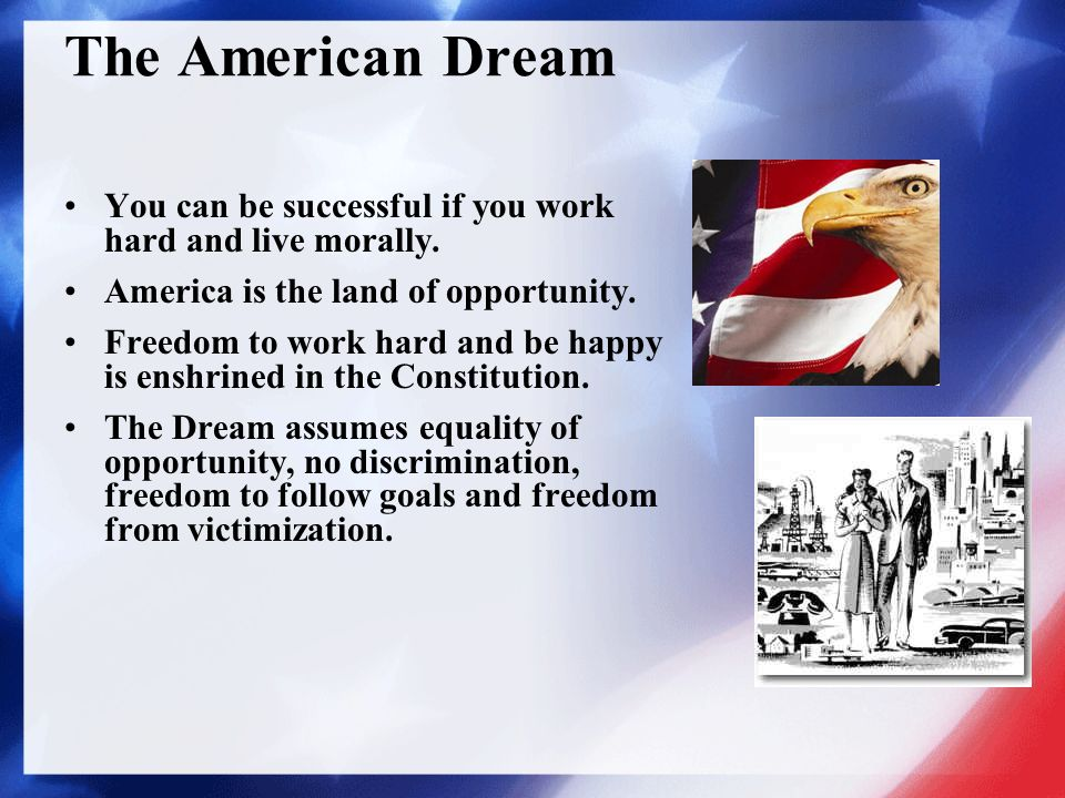 describing america as the land of opportunities Why america is still the land of opportunity  if you ask most people to describe the american dream, they'll tell you about the old american dream  it's your opportunity to achieve more and.