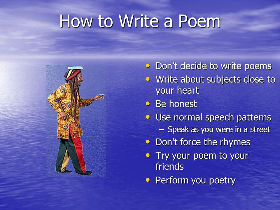 How to Write a Name Poem
