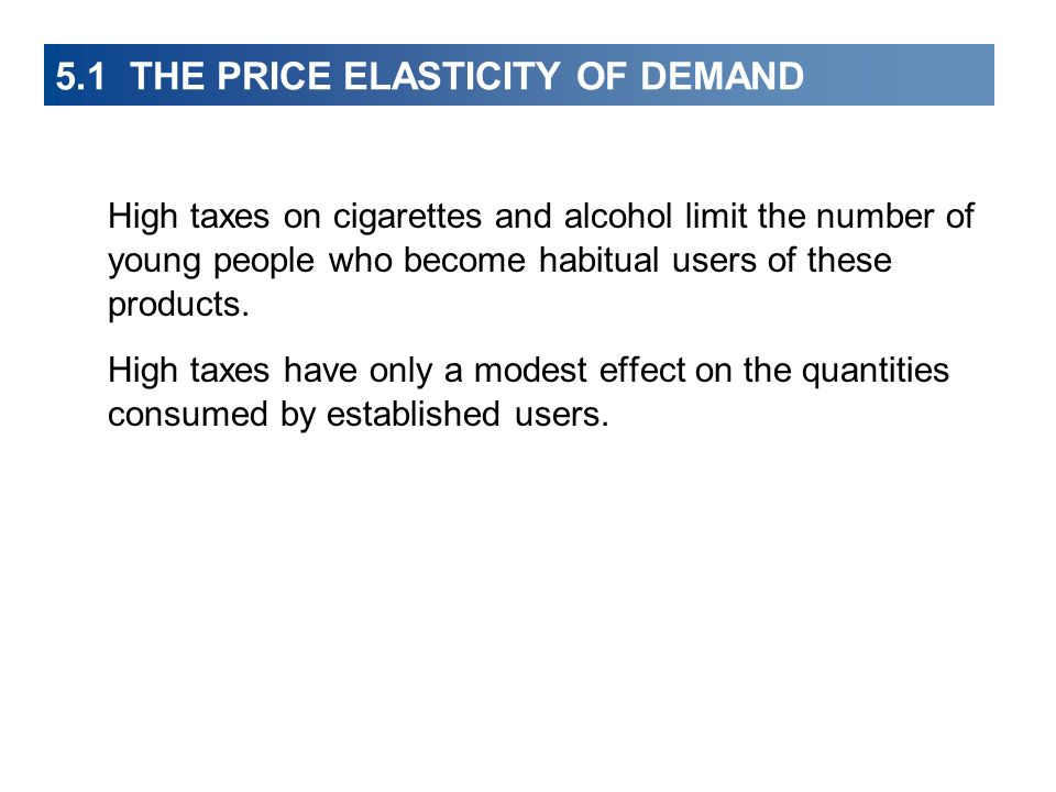 The effects of high taxes on tobacco