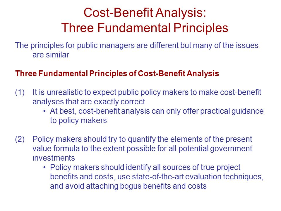 cost benefit evaluation techniques pdf