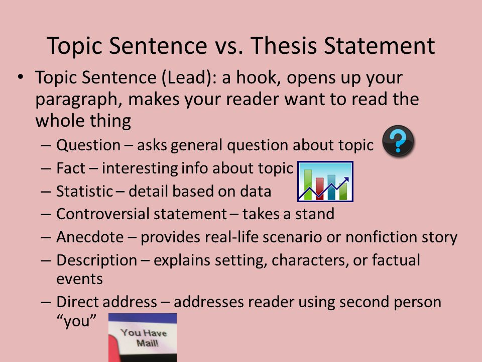 writing your topic sentence or thesis statement A thesis statement is usually a sentence that states  start out with the main topic and focus of your  can i revise the thesis statement in the writing.