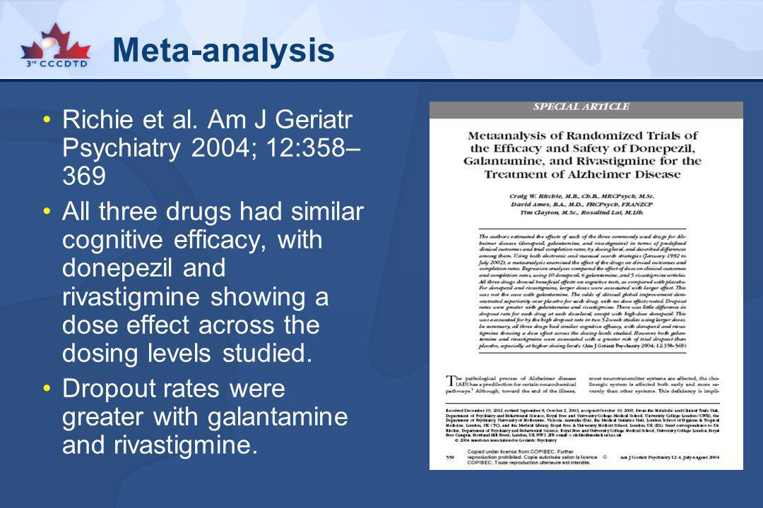 Meta-analysis Richie et al. Am J Geriatr Psychiatry 2004; 12:358–369