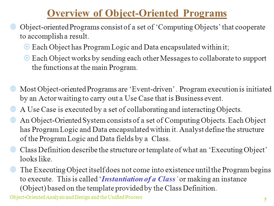 objectives the primary focus of this chapter is on how to develop detailed object