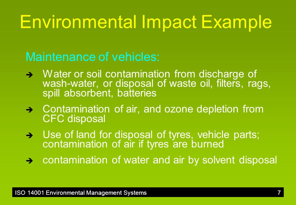 Iso environmental aspects ppt video online download for How to tell if garbage disposal motor is burned out