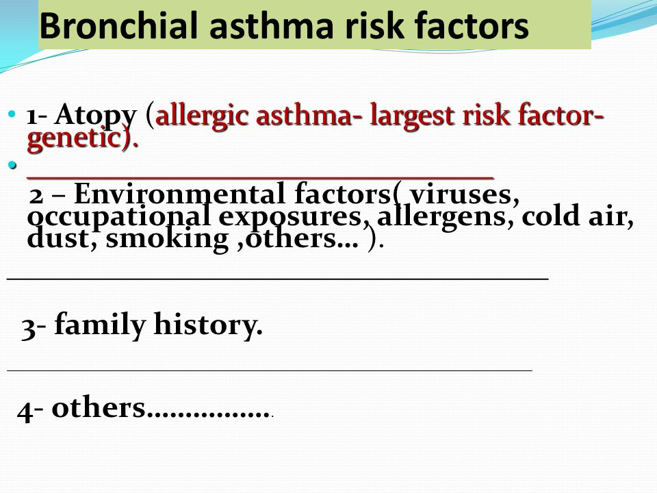 a research to investigate the various environmental and genetic factors that causes asthma As well as looking at genetic and environmental interactions, gabriel will study the molecular basis for environmental factors which can increase the risk of industrial asthma it will also identify the agents which protect strongly against asthma in rural and farming communities and use genetics, genomics and proteomics to discover novel.