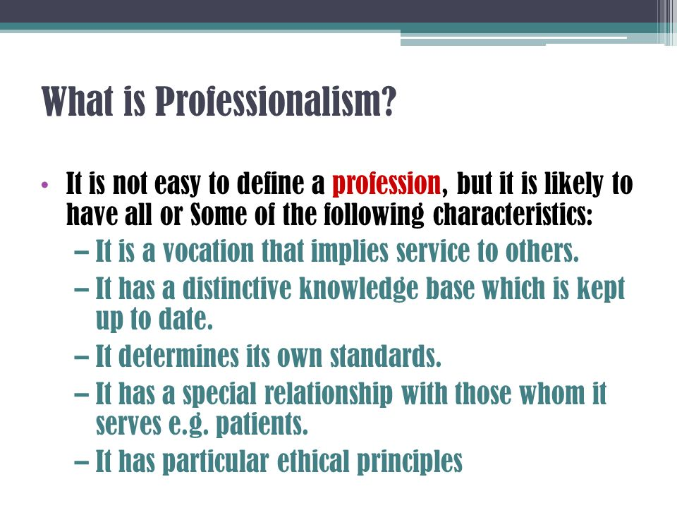 define professionalism Definition of professionalism in the legal dictionary - by free online english dictionary and encyclopedia what is professionalism meaning of professionalism as a legal term.