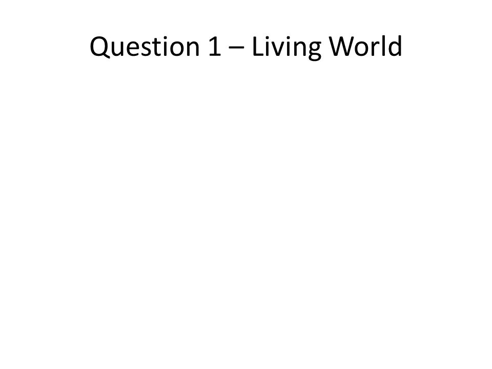 Question 1 – Living World