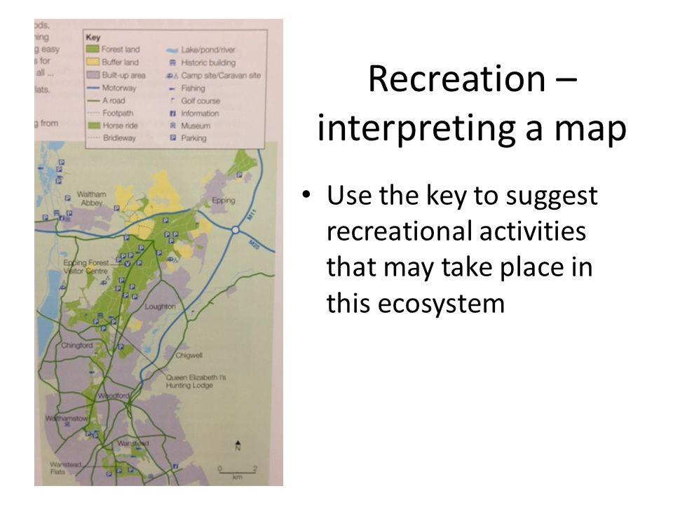 Recreation – interpreting a map