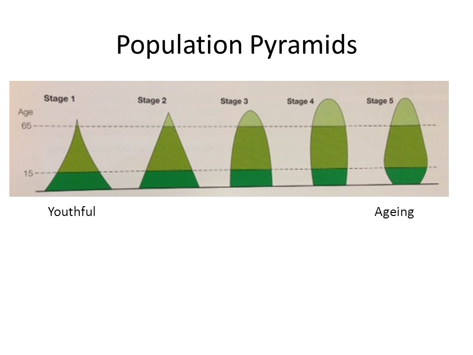 Population Pyramids Youthful Ageing