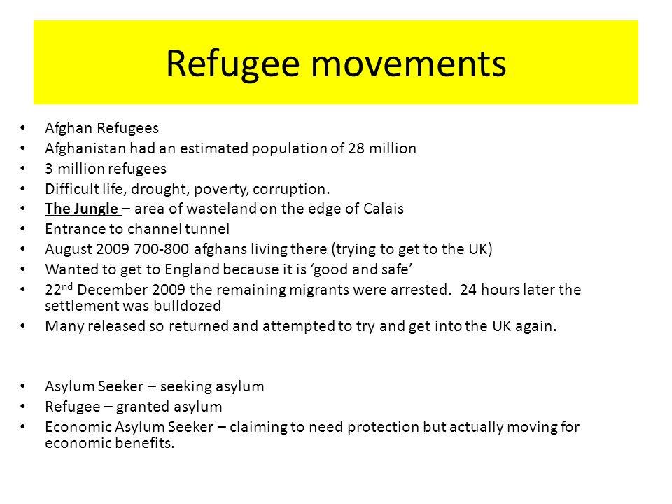 Refugee movements Afghan Refugees