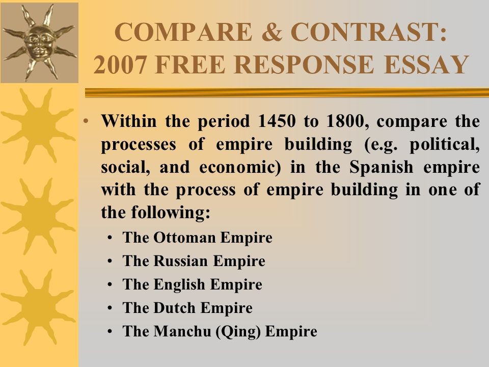 the dutch and english essay Hst 155 – compare and contrast life in the spanish compare and contrast life in the spanish, french, dutch, and english colonies, differentiating between the.