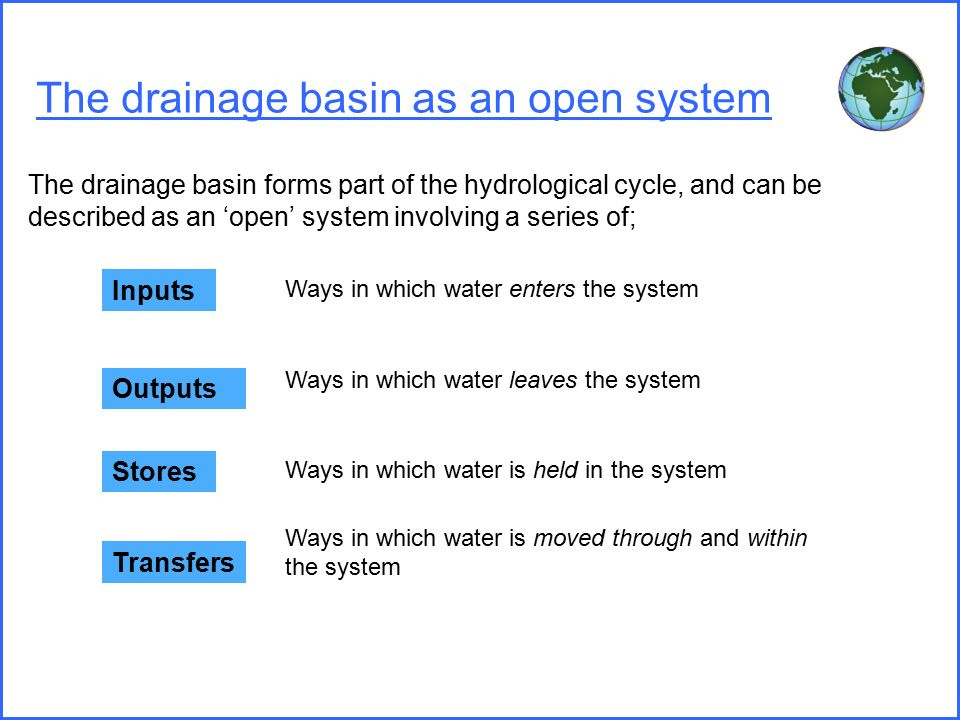 should drainage basins be managed or natural? essay River drainage basins a river drainage basin is an area drained by a river and all of its the natural processes of weathering and erosion also contribute to.