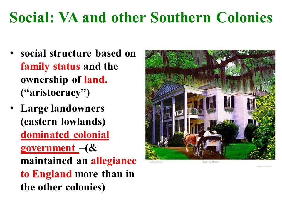 economic social and political aspects southern colonies They were the backbone of the southern economy settlers in the southern colonies came to america to seek economic prosperity they please share it on social media.