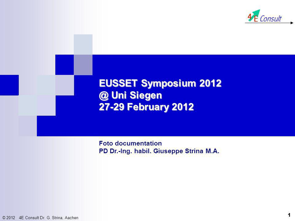 EUSSET Symposium 2012 @ Uni Siegen 27-29 February 2012