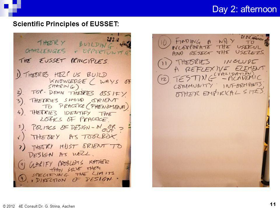 Scientific Principles of EUSSET: