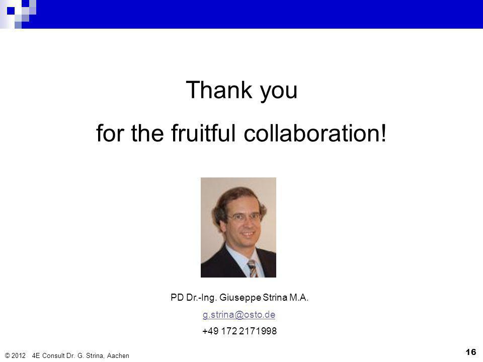 for the fruitful collaboration!