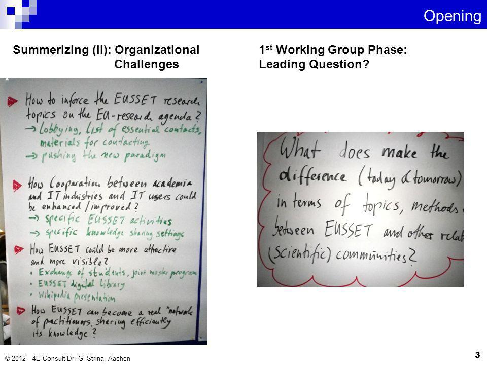 Summerizing (II): Organizational Challenges