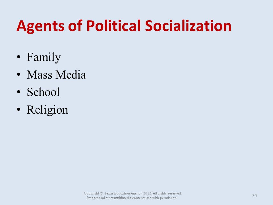 political socialization agents essay