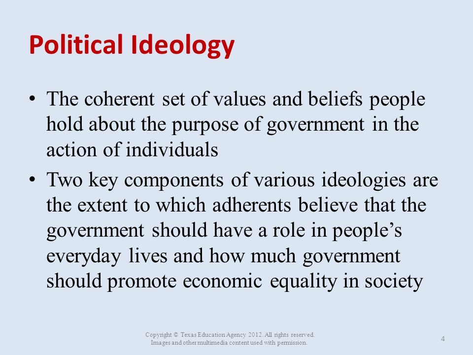 ideology as thinking values beliefs A high-level overview of liberal and conservative ideologies and their roles in   over the years, today the core values of the democratic party align with liberal  ideology  do you think that political beliefs fall on a continuum or a spectrum.