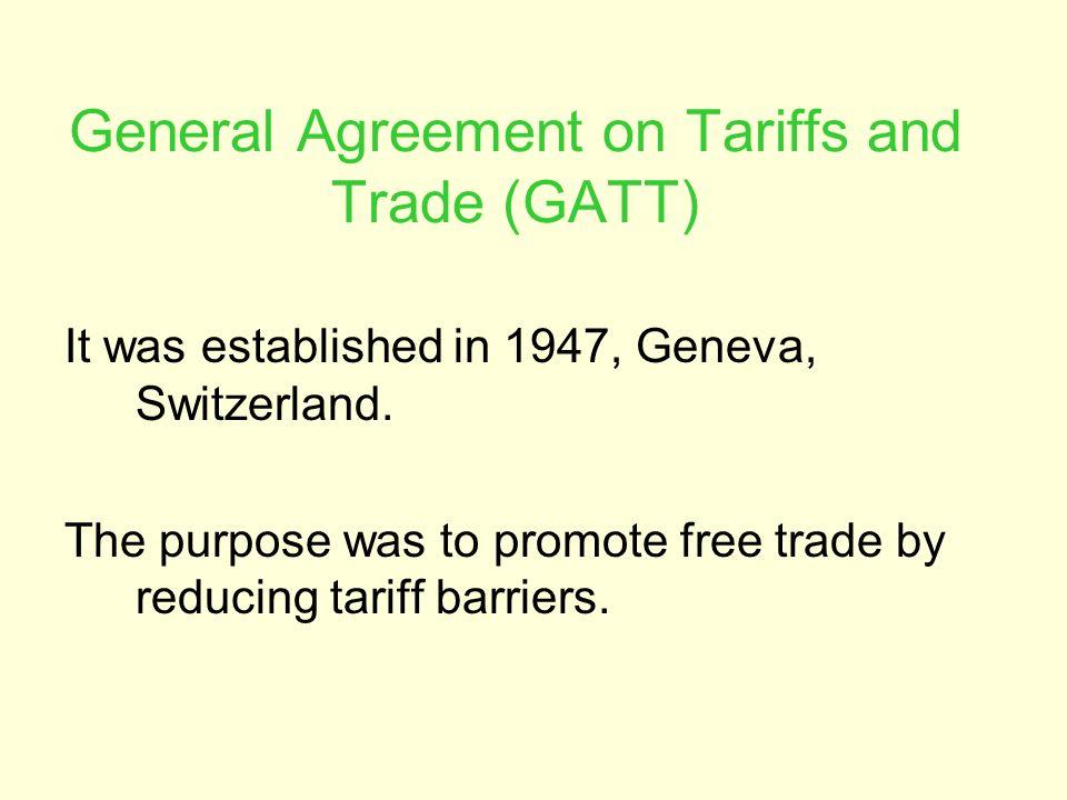 general agreement on trade and tariff gatt Page 23 general agreement on tariffs and trade 1994 1 the general agreement on tariffs and trade 1994 (gatt 1994.